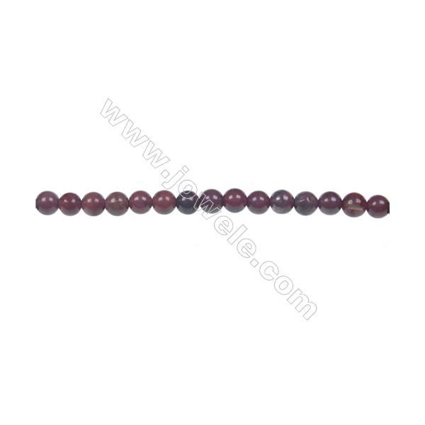 Apple jasper round beaded strand, Diameter 4 mm, Hole 0.8 mm, 96 beads/strand 15 ~ 16''