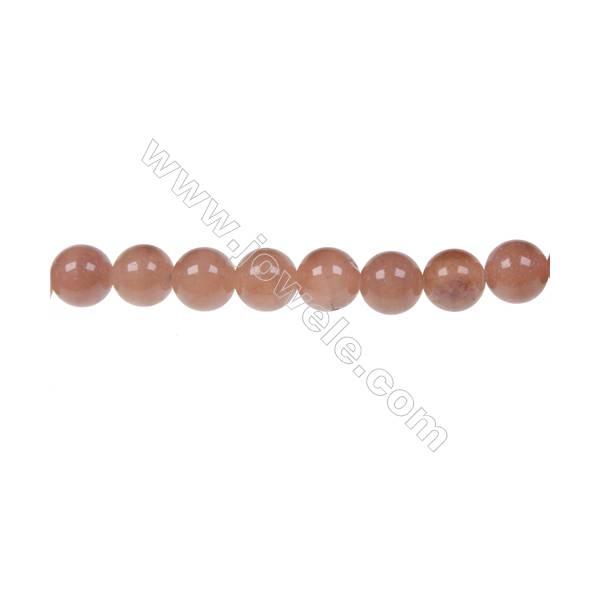 Red aventurine round strand beads in diameter 8 mm  hole 1.5 mm  50 beads /strand 15 ~ 16 ''