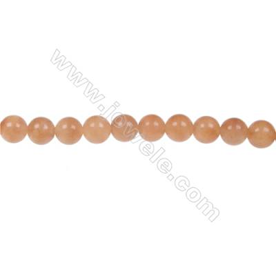 Red aventurine round beaded strand  in diameter 6 mm  hole 1.2 mm  63 beads /strand 15 ~ 16 ''