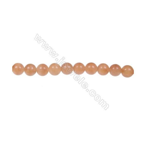 Red aventurine round beaded strand  in diameter 6 mm  hole 1.2 mm  63 beads /strand 15 ~ 16 ''
