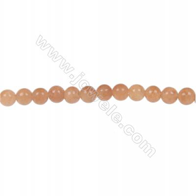 Red aventurine round beaded strand diameter 4 mm  hole 0.8 mm  97 beads /strand 15 ~ 16 ''