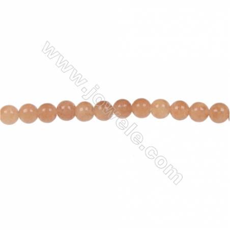 Red aventurine round beaded strand diameter 4 mm  hole 0.8 mm  97 beads /strand 15 ~ 16 ''
