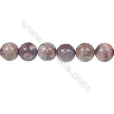 Bird's eye Rhyolite Jasper Round Strand Beads, Diameter 10 mm, Hole 1.5 mm, 40 beads/strand 15 ~ 16''
