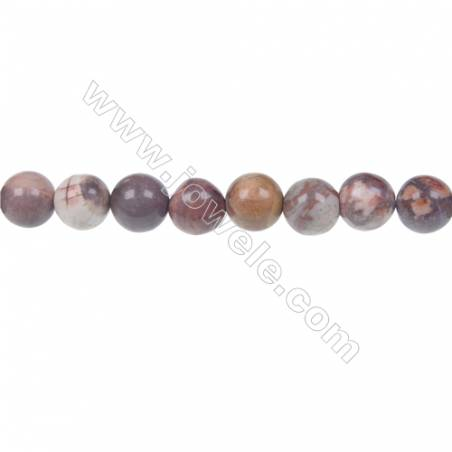 Bird's eye Rhyolite Round Strand Beads, Diameter 8 mm, Hole 1.5 mm, 48 beads/strand 15 ~ 16''