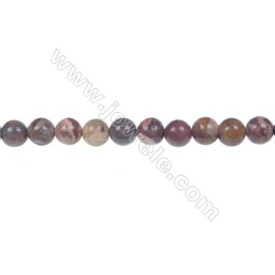 Bird's eye Rhyolite Jasper Round Strand Beads, Diameter 6 mm, Hole 1 mm, 63 beads/strand 15 ~ 16''