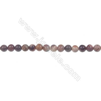 Bird's eye Rhyolite Jasper Round Strand Beads, Diameter 4 mm, Hole 0.8 mm, 96 beads/strand 15 ~ 16''