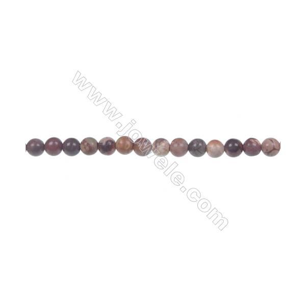 Bird's eye Rhyolite Jasper Round Strand Beads, Diameter 4 mm, Hole 0.8 mm, 96 beads/strand 15 ~ 16''