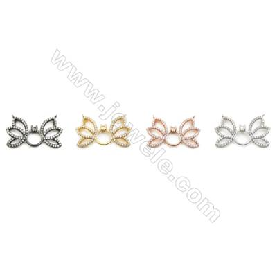 16x28mm  Brass Connectors, Butterfly, (Gold, White gold, Black, Rose Gold) Plated, CZ Micropave, hole 0.8mm, 10pcs/pack