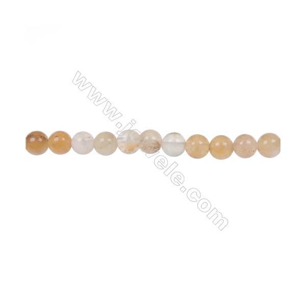Mixed yellow aventurine round strand beads in diameter 6 mm  hole 1 mm  69 beads /strand 15 ~ 16 ''