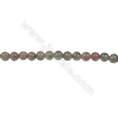 Round Unakite  strand beads in diameter 4 mm  hole 0.8mm  102 beads /strand 15 ~ 16 ''