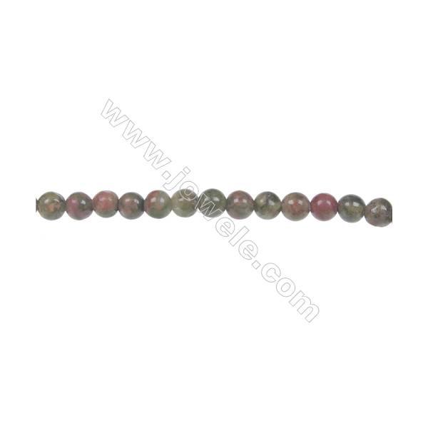 Round Unakite  strand beads in diameter 4 mm  hole 0.8mm  102 beads /strand 15 ~ 16 ''