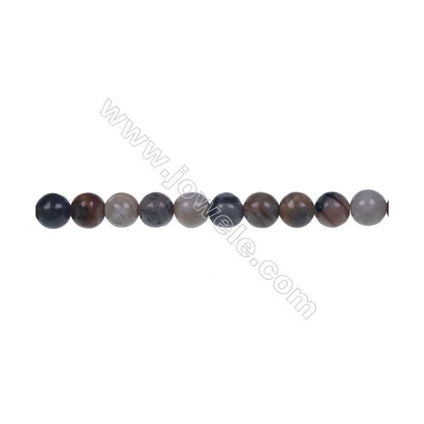Round Picasso jasper strand beads, Diameter 6 mm, Hole 1 mm, 67 beads/strand 15 ~ 16''