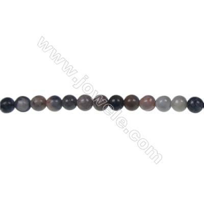 ペガソ石丸形ビーズ 長径 4mm x 116個/本 穴長径0.8mm