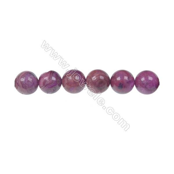 Dyed red agate round strands bead in diameter 10 mm  hole 1.2 mm  40 beads /strand 15 ~ 16 ''