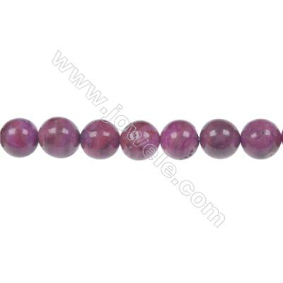 Dyed red agate round beaded strand   diameter 8 mm   hole 1.2 mm  48 beads /strand 15 ~ 16 ''
