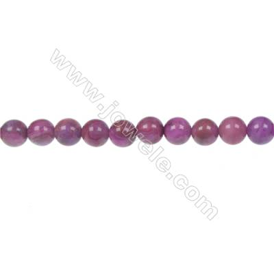 Dyed red agate round strand beaded in diameter 6 mm   hole 1 mm  64 beads /strand 15 ~ 16 ''