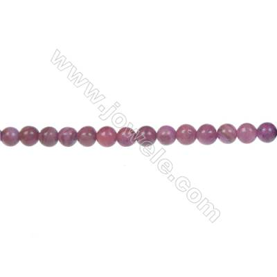 Dyed red agate round strand beads in diameter 4 mm   hole 0.8 mm  103 beads /strand 15 ~ 16 ''