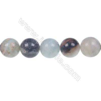 Black Amazonite round beaded strand beads diameter 10 mm hole 1.2 mm 39 beads /strand 15~16''