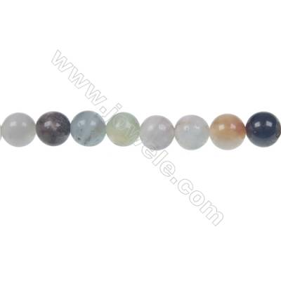 Black  Amazonite round strand beads in diameter 6 mm  hole diameter 1 mm 66 beads /strand 15 ~ 16 ''