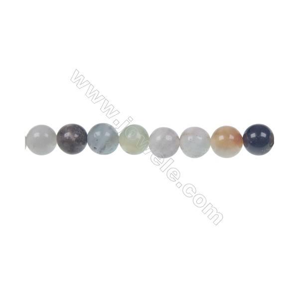Black  Amazonite round strand beads in diameter 6 mm  hole diameter 1 mm 66 beads /strand 15 ~ 16 ''