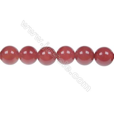 Natural red agate round strand beads in diameter 10 mm  hole diameter 1.5 mm 38 beads /strand 15 ~ 16 ''