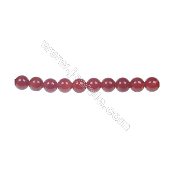 Round agate red beaded strand in diameter 6 mm  hole diameter 1 mm 64 beads /strand 15 ~ 16 ''