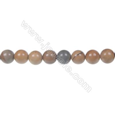 Wild horse picture jasper round strand beads, Diameter 8 mm, Hole 1.2 mm, 51 beads/strand 15 ~ 16''