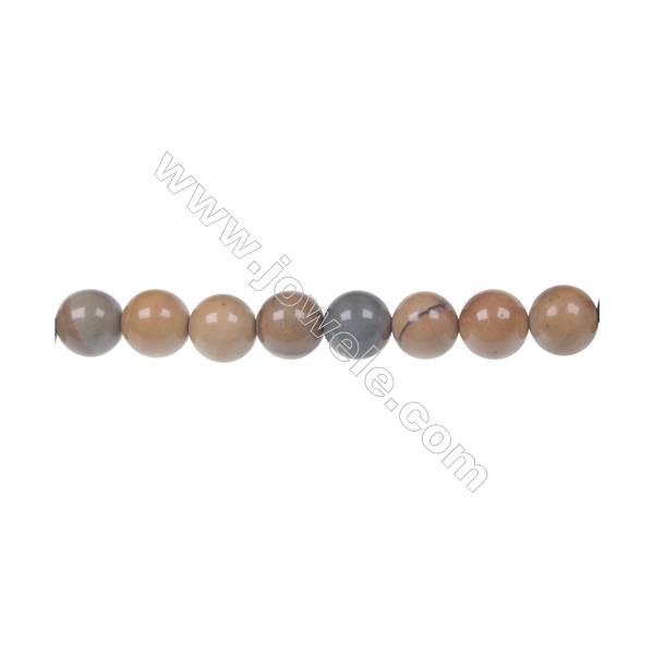 Wild horse picture jasper round strand beads, Diameter 8 mm, Hole 1.2 mm, 51 beads/strand 15 ~ 16''