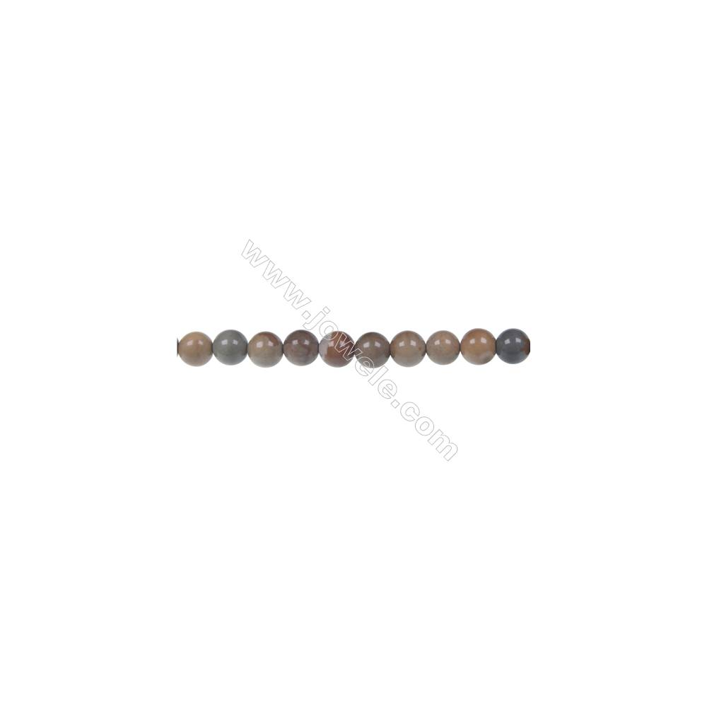 Wild horse picture jasper round stand beads, Diameter 6 mm, Hole 1 mm, 65 beads/strand 15 ~ 16''