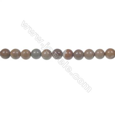 Wild horse picture jasper round strand beads, Diameter 4 mm, Hole 0.8 mm, 101 beads/strand 15 ~ 16''