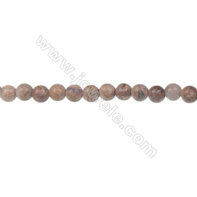 Picture jasper round strand beads, Diameter 4 mm, Hole  0.8 mm, 93 beads/strand 15 ~ 16''
