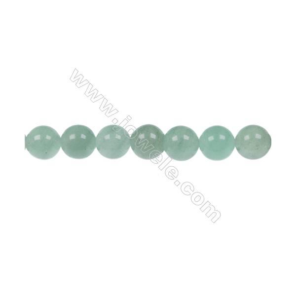 Natural green Aventurine strand beads  in diameter 8 mm  hole 1 mm  49 beads / strand   15~16 ''