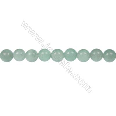 Natural green Aventurine strand beads for jewelry making in diameter 6 mm  hole 1 mm  64 beads / strand  15~16 ''