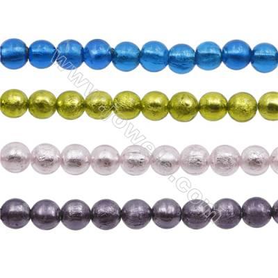 "10mm Handmade Lampwork Strand Beads  Round  Hole: 1.5-2mm  40 beads/strand  15~16"""