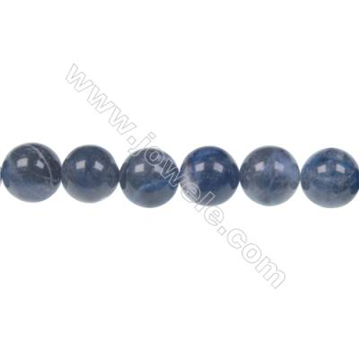 Round sodalite strand beads in diameter 12 mm  hole size 1.5 mm  32 beads /strand 15 ~ 16 ''