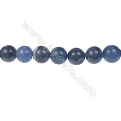 Round sodalite strand beads in diameter 10 mm  hole size 1.2 mm  39 beads /strand 15 ~ 16 ''