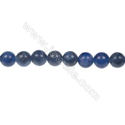 Round sodalite strand beads in diameter 8 mm  hole size 1.2 mm  47 beads /strand 15 ~ 16 ''