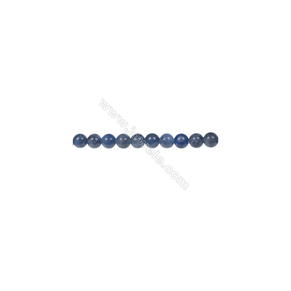 Round sodalite strand beads in diameter 6 mm  hole size 1 mm  61 beads /strand 15 ~ 16 ''