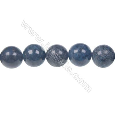 12mm dumortierite round strand beads for DIY jewelry making  hole diameter 1.5 mm  33beads/ strand  15~16''