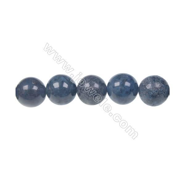 12mm dumortierite round strand beads for DIY jewelry making  hole diameter 1.5 mm  33beads/ strand  15~16''