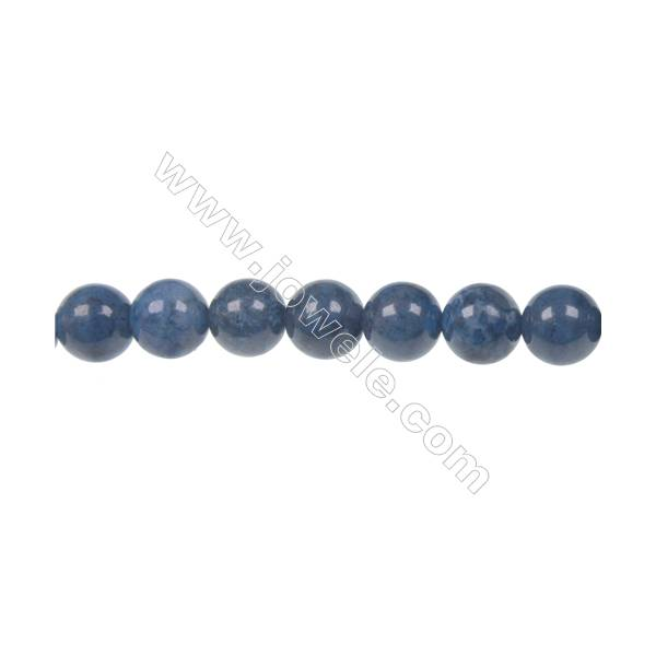 10mm dumortierite round strand beads for DIY jewelry making  hole diameter 1.5 mm  39 beads/ strand  15~16''