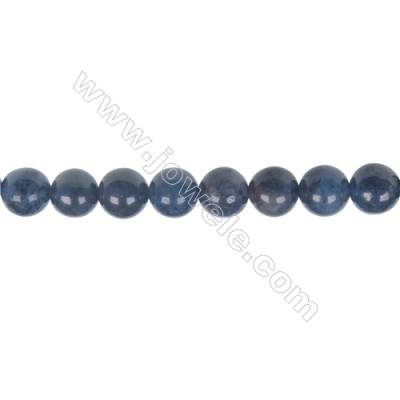 Wholesale supplies dumortierite  8mm round strand beads  hole diameter 1.2 mm  49 beads/ strand    15~16 ''