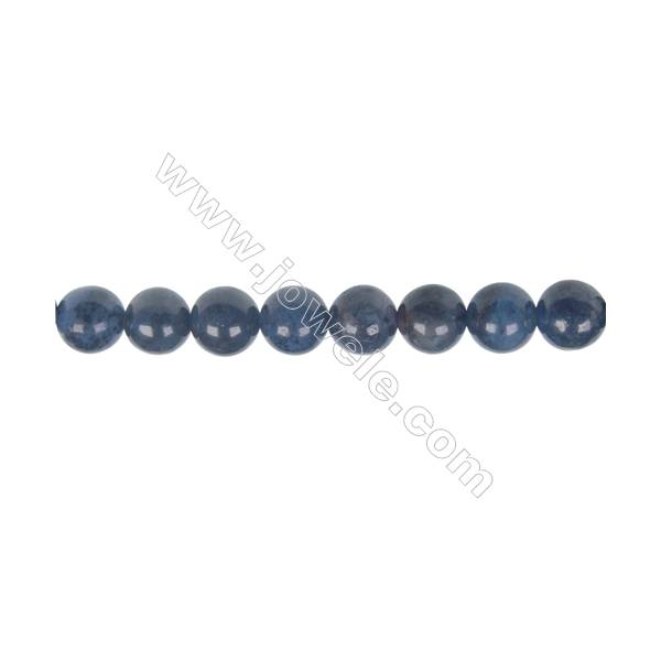 Wholesale supplies dumortierite  8mm round strand beads  hole diameter 1.2 mm  49 beads/ strand    15~16 ''