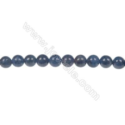Natural stone dumortierite  6mm round strand beads  hole diameter 1 mm  64 beads/ strand  15~16''