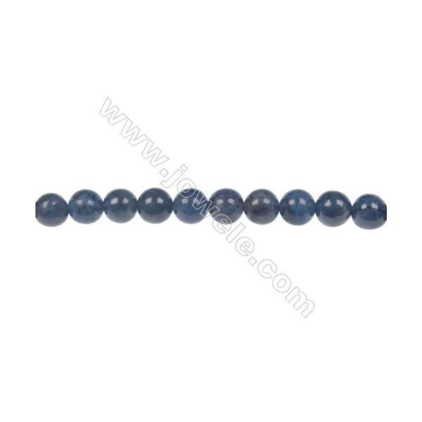 Natural stone dumortierite  6mm round strand beads  hole diameter 1 mm  64 beads/ strand  15~16''