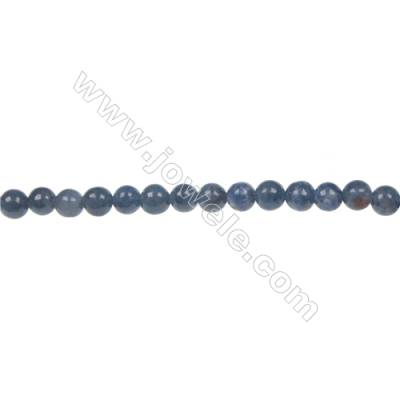 Natural stone dumortierite  4mm round strand beads  hole diameter 0.8mm  103 beads/ strand  15~16''