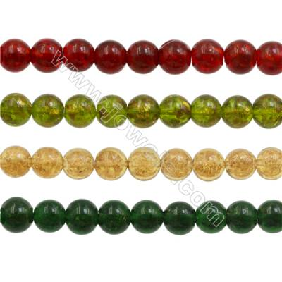 12mm Handmade Lampwork Strand Beads  Round  Hole: 1mm  36 beads/strand  15~16""