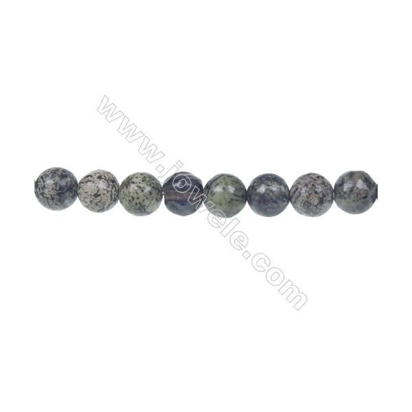 "Fashion green zebra jasper round strand beads, Diameter 8mm, Hole 1mm, 51 beads/strand 15~16"""