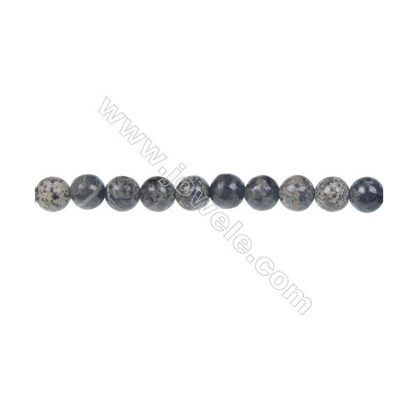 """Green zebra jasper round strand beads, Diameter 6mm, Hole 0.8 mm, 64 beads/strand 15~16"""""""