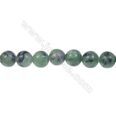 Wholesale price Ruby Zoisite 8mm round strand beads, Hole 1.2 mm, 52 beads/strand, 15~16""